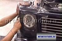 Mercedes G защитная прозрачная плёнка